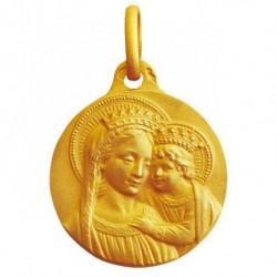 Médaille Vierge couronnée à l'enfant