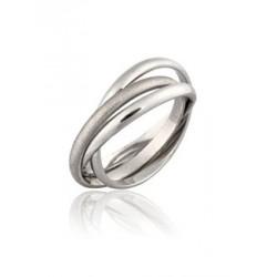 Bague or anneaux entrelaces