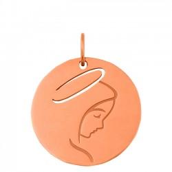 Médaille Vierge jeune or rose