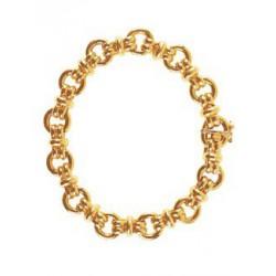 Bracelet or maille huit alterné