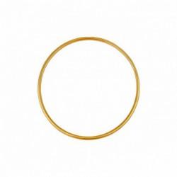 Bracelet jonc en or fil rond 2mm diamètre 50mm