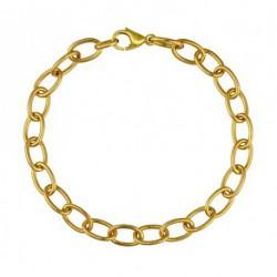 Bracelet maille ovale