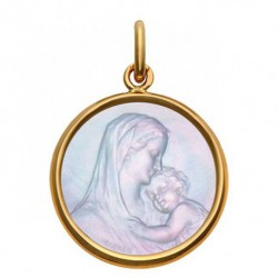 Médaille Mater Dei or & nacre