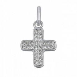 Croix baby cross or blanc et diamants