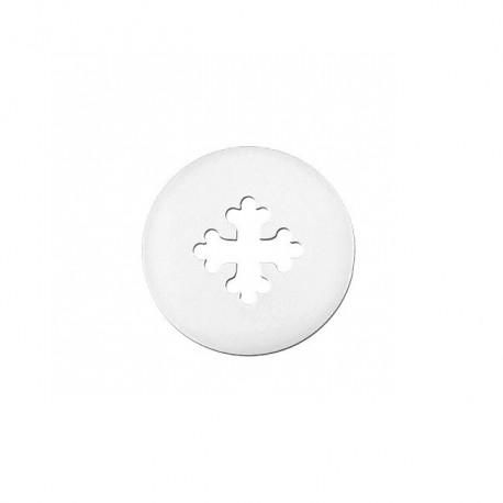 Mini croix occitane or blanc
