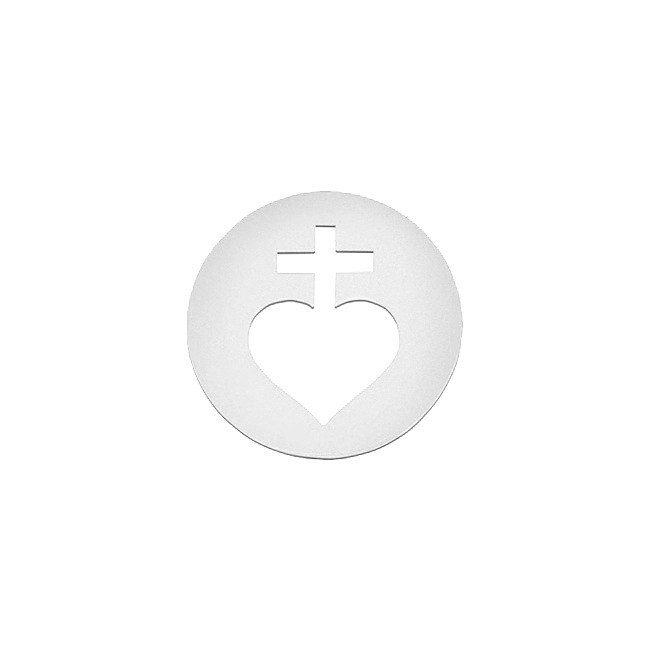 Mini rond sacre-coeur or blanc