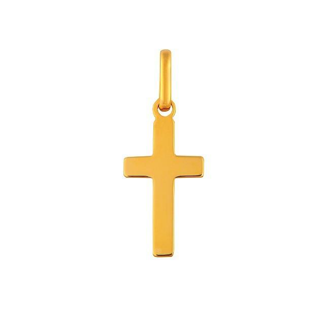 Pendentif petite croix polie