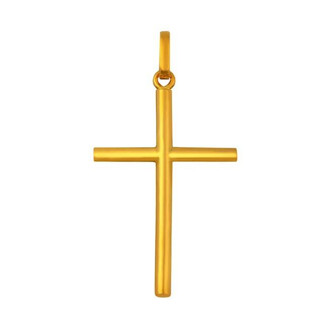 Pendentif Croix or classique