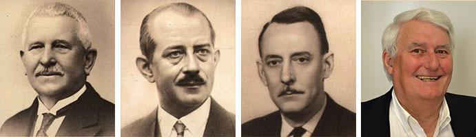 De gauche à droite : Esaïe Gonthiez, Albert Gonthiez, Jacques Gonthiez, Thierri Gonthiez