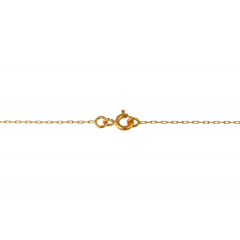 Chaine or forçat fine 40cm 1.3gr