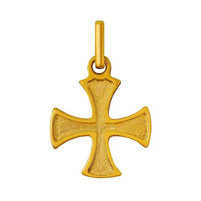 Pendentif croix égale or