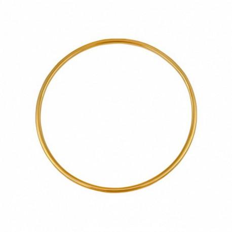 Bracelet jonc en or fil rond 2.5mm diamètre 60mm