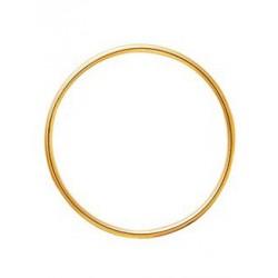 Bracelet jonc en or fil rond 3mm diamètre 60mm