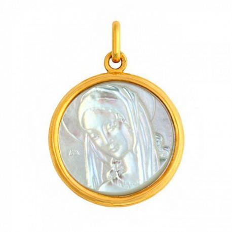 Médaille Ancilla Domini nacre 24mm