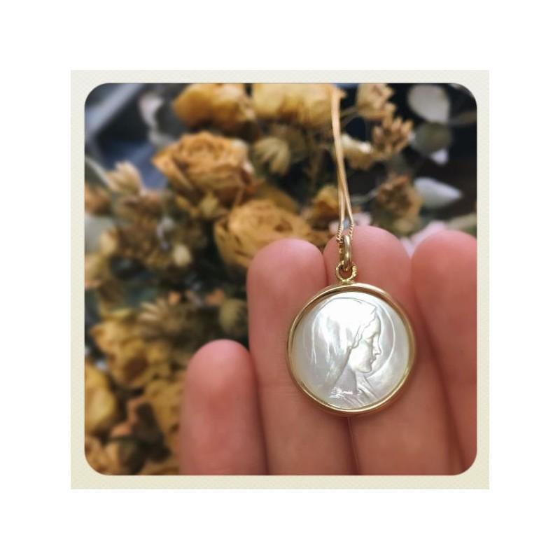 Nacre Vierge 19mm Médaille Jeune 9ID2WHE