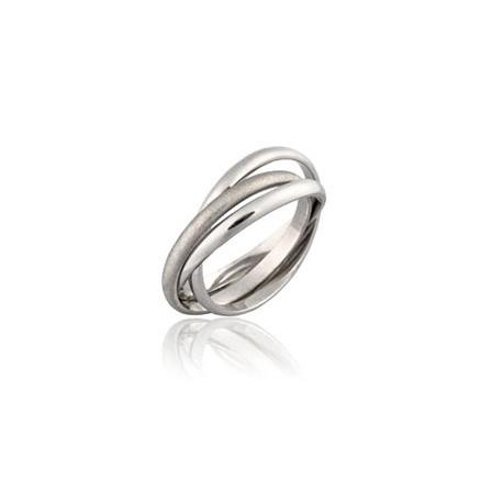 Bague or anneaux entrelacés