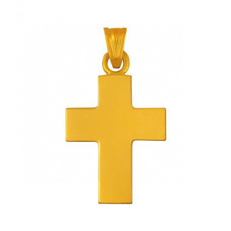 Pendentif croix unie polie