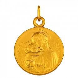 Médaille Vierge à l'enfant fleurie