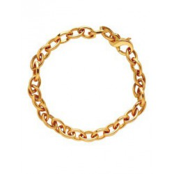 Bracelet or maille ovale