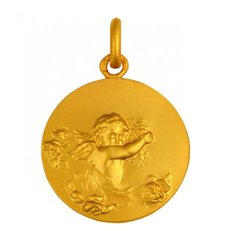 Médaille Ange aux fleurs