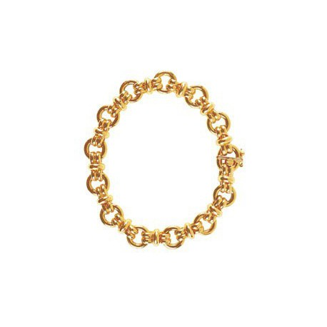 Bracelet maille huit alterné