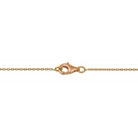 Chaine maille forçat or rose 45cm