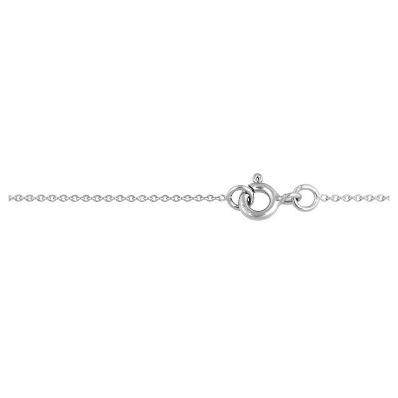 Chaine forcat rond or blanc 45cm 1.45gr