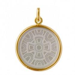 Médaille Motif mérovingien or & nacre
