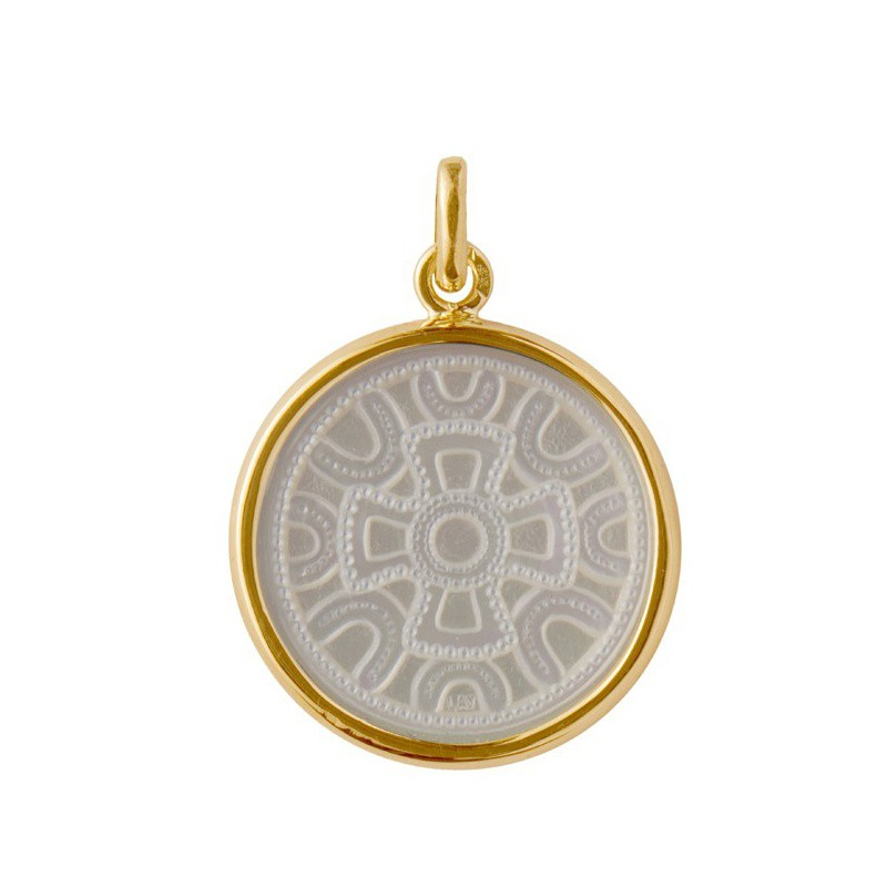 Medaille Motif merovingien or & nacre