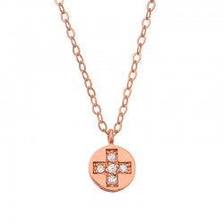Collier Croix latine et diamants
