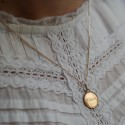 MEDAILLE JETON PERLE 15MM  OR ROSE