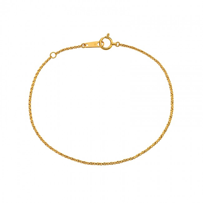 Bracelet maille brillante