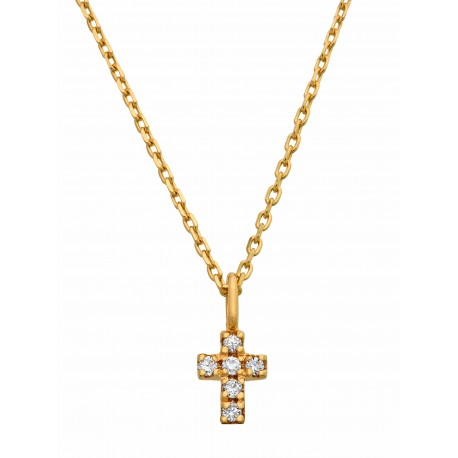 Collier Mini croix Alice