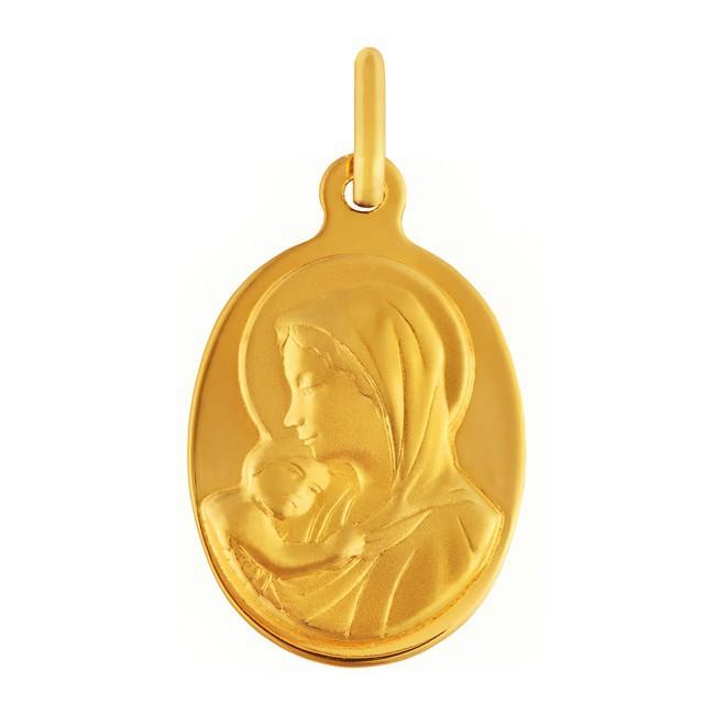 Médaille Vierge enfant ovale