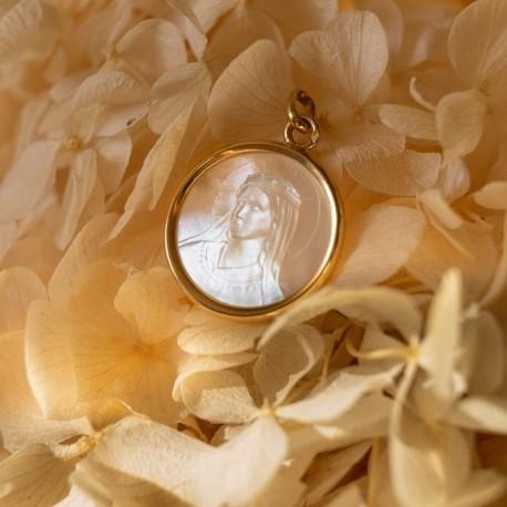 Médaille Notre Dame de Lumière nacre