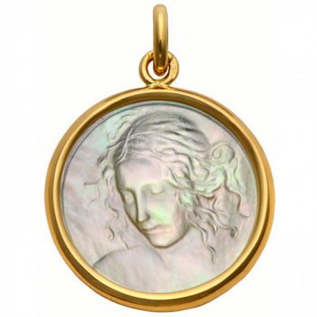 Médaille Vierge de Vinci nacre
