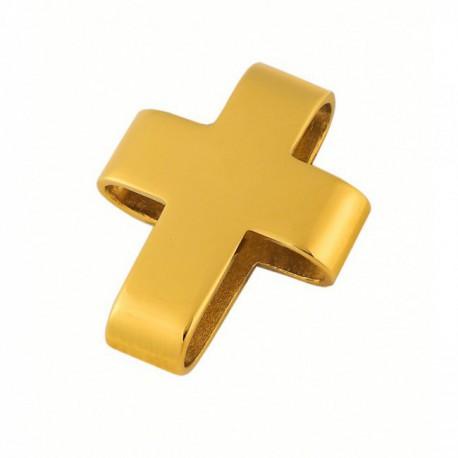 Pendentif croix bombée