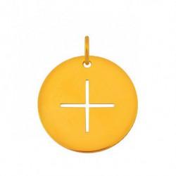 Pendentif croix fine or jaune