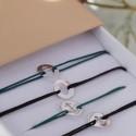 Bracelet sur cordon Sacre Coeur or blanc