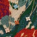 Pendentif croix emmaillée rose clair