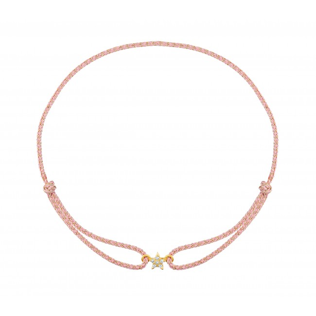 Bracelet cordon lune Anna