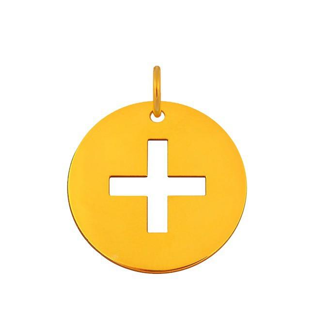 Pendentif croix latine avec bélière