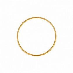 Bracelet jonc en or fil rond 2mm diamètre 45mm