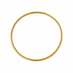 Bracelet jonc en or fil rond 2.5mm diamètre 63mm