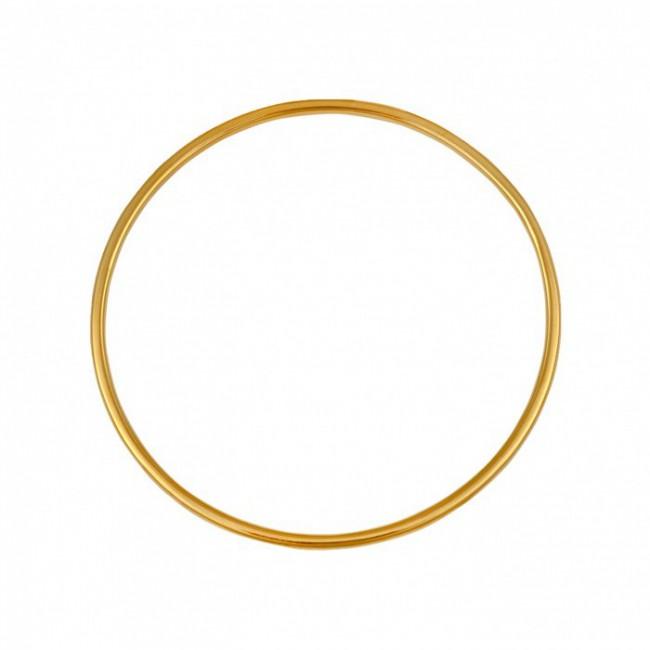 Bracelet jonc en or fil rond 2.5mm diamètre 65mm