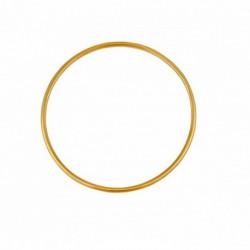Bracelet jonc en or fil rond 1.5mm diamètre 45mm