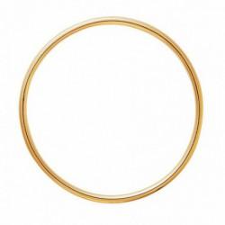 Bracelet jonc en or fil rond 1.5mm diamètre 55mm