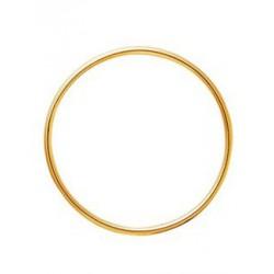 Bracelet jonc en or fil rond 3mm diamètre 63mm