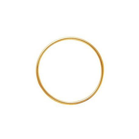 Bracelet jonc en or fil rond 3mm