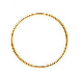 Bracelet jonc en or fil rond 3mm diamètre 65mm
